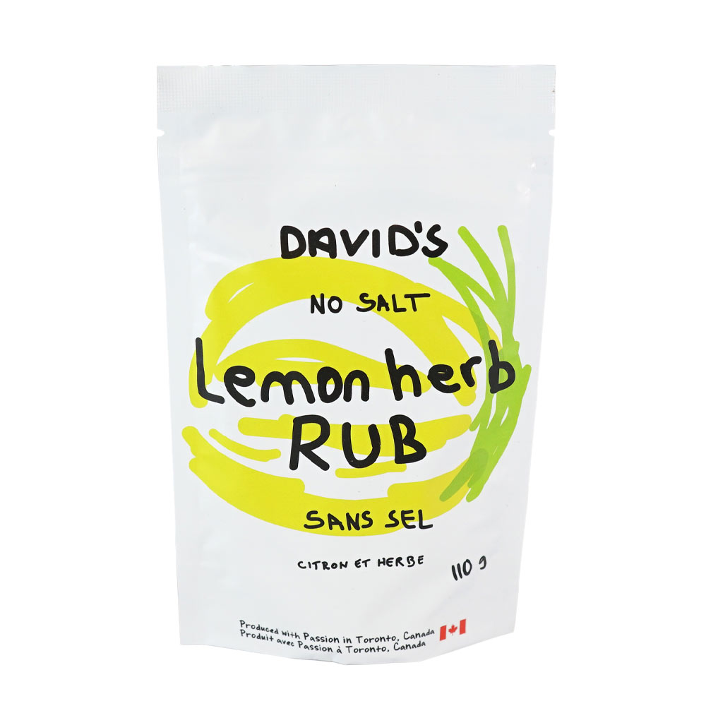 [187004] Lemon Herb Rub  Plastic Bottle 110 g Davids